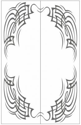 Пескоструйный рисунок Абстракция №650