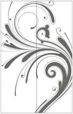 Пескоструйный рисунок Абстракция №654