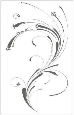 Пескоструйный рисунок Абстракция №656