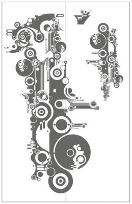 Пескоструйный рисунок Абстракция №657