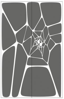 Пескоструйный рисунок Абстракция №671