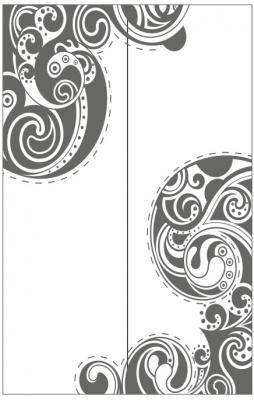 Пескоструйный рисунок Абстракция №680