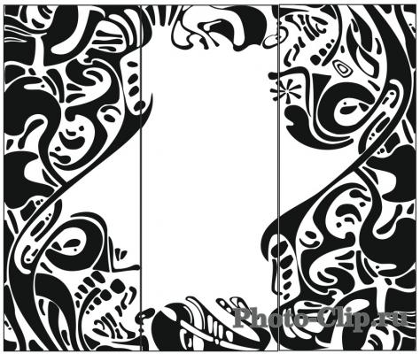 Пескоструйный рисунок Абстракция №696