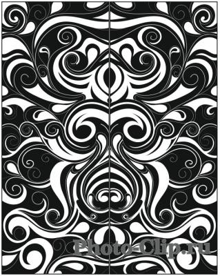 Пескоструйный рисунок Абстракция №697