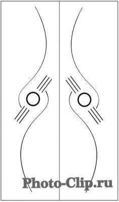 Пескоструйный рисунок Абстракция №711