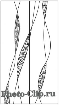 Пескоструйный рисунок Абстракция №745