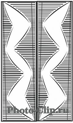 Пескоструйный рисунок Абстракция №754