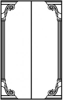 Пескоструйный рисунок Колонны №8