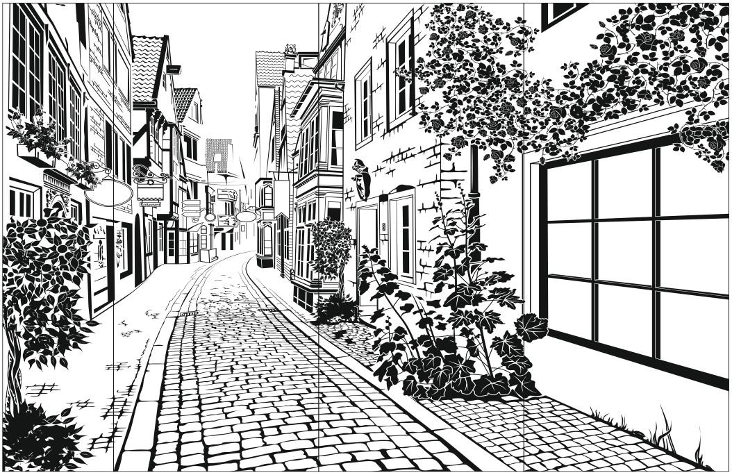 черно-белые картинки для распечатки города летние босоножки