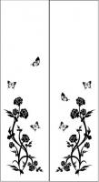 Пескоструйный рисунок бабочки 100