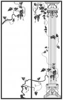 Пескоструйный рисунок Колонны №10
