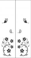 Пескоструйный рисунок бабочки 101