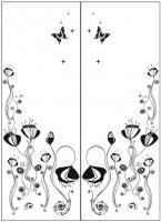 Пескоструйный рисунок бабочки 102