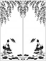 Пескоструйный рисунок бабочки 103