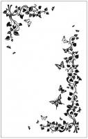 Пескоструйный рисунок бабочки 104
