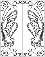 Пескоструйный рисунок бабочки 105