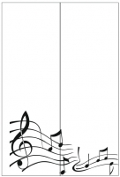 Пескоструйный рисунок Ноты №10
