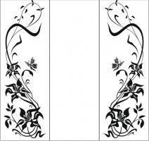 Пескоструйный рисунок бабочки 106