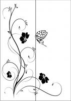 Пескоструйный рисунок бабочки 107