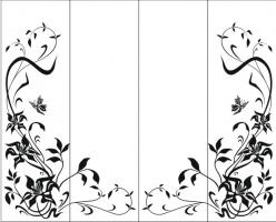 Пескоструйный рисунок бабочки 109