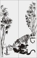 Шаблон тигр №1