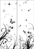 Пескоструйный рисунок бабочки 110