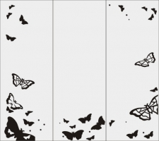 Пескоструйный рисунок бабочки 111