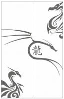 Пескоструйный рисунок Дракон №11