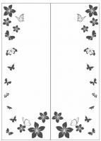 Пескоструйный рисунок бабочки 114