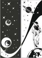 Пескоструйные рисунки Космос №11