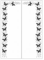 Пескоструйный рисунок бабочки 116