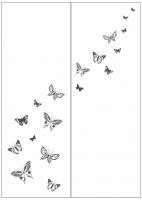 Пескоструйный рисунок бабочки 118