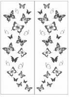 Пескоструйный рисунок бабочки 119