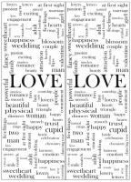 Пескоструйный рисунок Любовь №12