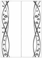 Пескоструйный рисунок бабочки 121