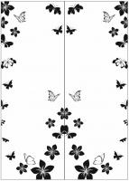 Пескоструйный рисунок бабочки 122