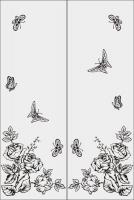 Шаблон бабочки №12
