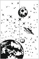 Пескоструйные рисунки Космос №12
