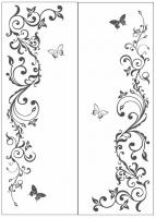 Пескоструйный рисунок бабочки 124