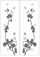 Пескоструйный рисунок бабочки 127