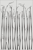 Бамбук в векторе №12