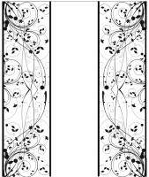 Пескоструйный рисунок бабочки 128