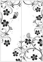 Пескоструйный рисунок бабочки 129