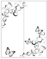 Пескоструйный рисунок бабочки 130
