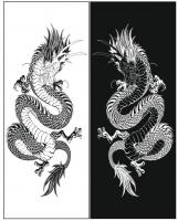 Пескоструйный рисунок Дракон №13