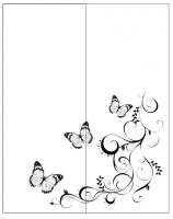Пескоструйный рисунок бабочки 131