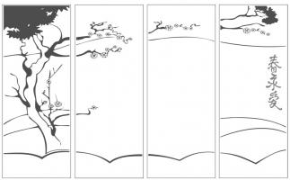 Пескоструйный рисунок дерева №131