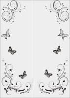 Шаблон бабочки №13