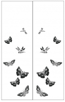 Пескоструйный рисунок бабочки 132