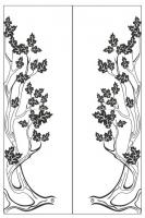 Пескоструйный рисунок дерева №134